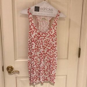 Torn by Ronny kobo, coral print racer back tank, S